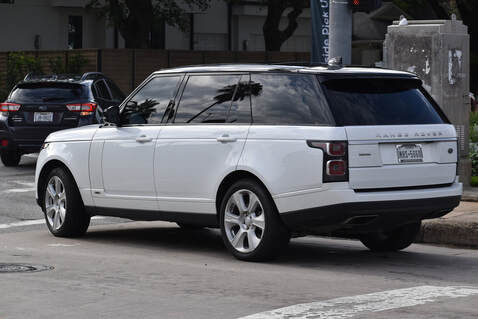 A new model of Range Rover with all windows tinted in Las Vegas, Nevada
